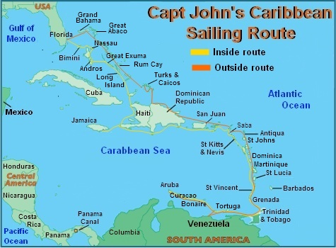 Cruising The Caribbean The Safe Affordable Way - Caribbean map aruba
