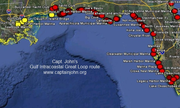 Florida Intracoastal Waterway Map.Doing The Ditch Icw Mile Markers Marinas And Points Of Interest