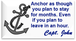advice from Capt John