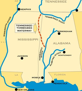 Capt Johns Most Frequently Asked Questions - Tennessee waterways map