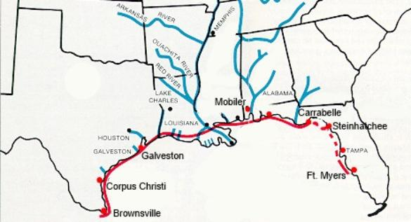 Florida West Coast Intracoastal Waterway Map.Page Title
