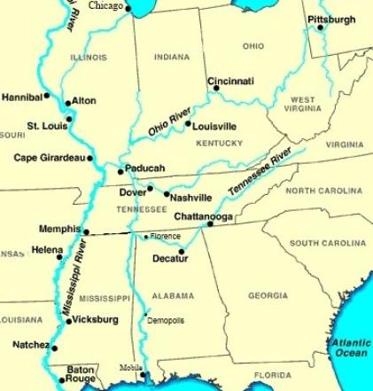 Capt Johns Most Frequently Asked Questions - Tn river map